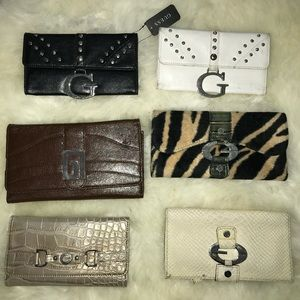 Lot of 6 Guess Wallets 3 Brand New 3 used